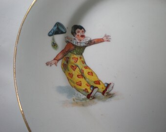 Vintage Fun Clown and Pig Bridgwood Plate