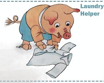 Kids Richard Scarry Helper Printable Chore Cards