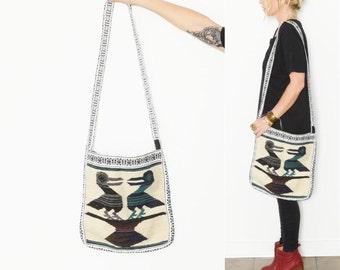 Vintage Ethnic Wool Bird Bag