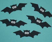 6 Bat Die Cuts for Scrapbooking and Paper Crafts  Halloween Spooky Cards Embellishments Paper Bats