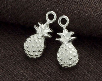 2 of 925 Sterling Silver Pineapple Charms 6x11 mm.  :th2351
