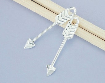 2 of 925 Sterling Silver Arrow Charms 3.5x23 mm.,delicate charms  :th2355