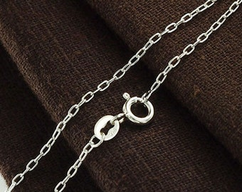 20 inches of 925 Sterling Silver Fine Cable Chain Necklace  1x2.2 mm. Delicate Chain  :th2370-20