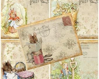 5 x Beatrix Potter/Peter Rabbit Character Post Cards