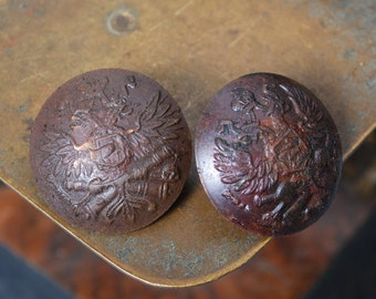 Original Imperial Russian Army WW1 military uniform Button. Eagle (3)