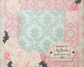 Premade Scrapbook Page 12 x 12 - My Smiles