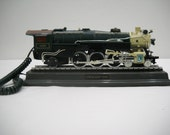 Vintage Train Locomotive Novelty Phone/Crescent 1925 Telephone/Push Button Phone