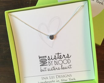 Heart Friendship Necklace, Heart Necklace, Like a Sister Necklace, Best Friend Necklace, Gift Best Friend, Sister in Law Gift, Sorority Gift