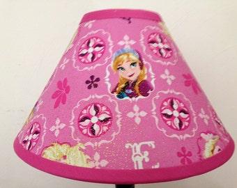 Disney Frozen Pink Fabric Lamp Shade