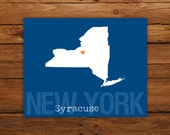 Custom New York, Personalized State Print, State Love, State Map, Country, Heart, Silhouette, 8 x 10 Wall Art Print