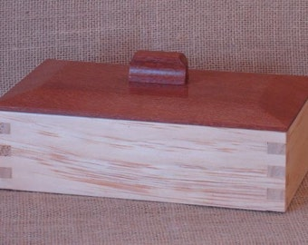 Radiata Pine with Leopardwood Lid Handcrafted Box