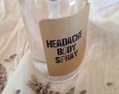 Moisturizing Headache Relief Body Spray – Aromatherapy – Spa Quality