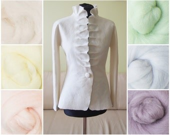 Felted jacket for bride in pastel colors as soft as the cashmere - Spring Summer Weddings