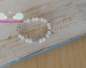 Lilac & cream pearls Bracelet