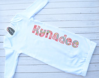 Personalized Monogrammed Baby Gown