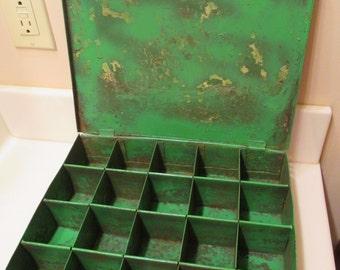 Vintage Metal Compartment Box