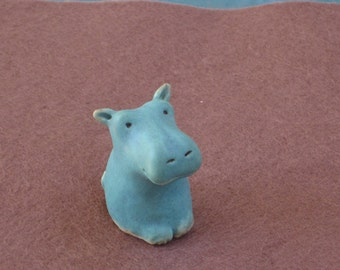 Proud Blue Hippo