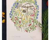 End of summer - letterpress print