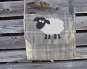 Sheep crossbody bag, sheep purse