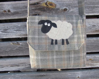 Sheep crossbody bag, sheep purse