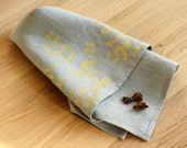 Linen Tea Towel - Golden Eucalyptus