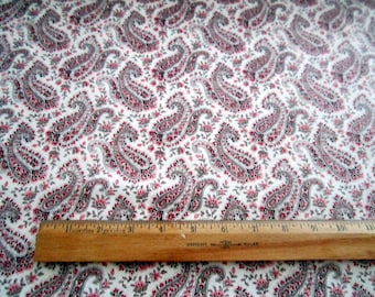 Paris Cream and Pink Paisley premium cotton fabric from Timeless Treasures Paris Rendezvous Collection - eiffel tower,pink roses,cafes