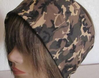 Camouflage Headband, Yoga Headband, Boho Headband, Stretchy Headband Unisex Headband, Buff Headband.