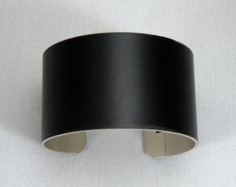 "1"" x 6"" (1 x 6)  BLACK anodized aluminum cuffs blanks, dozen"