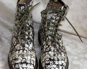 Doc martens Rare vintage limited edition Andy Warhol boots size 4uk