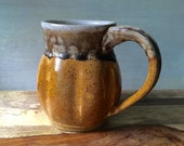 Ceramic Coffee Mug - Handmade Pottery Stoneware Mug - Golden Yellow Mug - 16 Ounce Coffee Mug - Pottery Coffee Mug