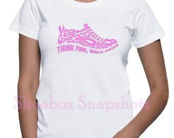 Cancer Awareness, Breast Cancer, Women's T Shirts, Walk For Cancer, Cancer Ribbon, Awareness Ribbon, Wear Pink, Cancer Survivor, Support