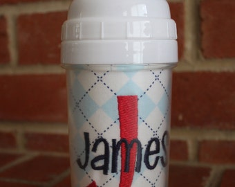 Blue Argyle Sippy Cup