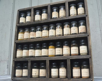 Spice Rack Rustic Style