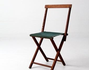 FREE SHIP vintage camp stool, folding chair