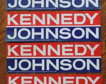 4 KENNEDYJOHNSON Bumper Stickers