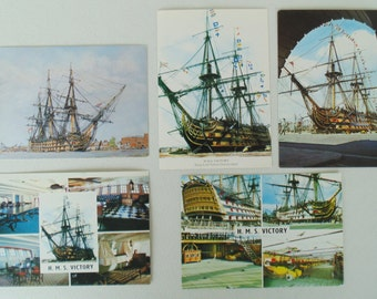 Collection Of 5 HMS Victory Postcards Unused