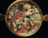 Vintage Handcrafted PUPPY Bracelet Piece