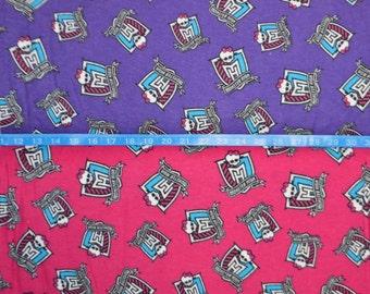 Monster high crest etsy for Monster high material fabric