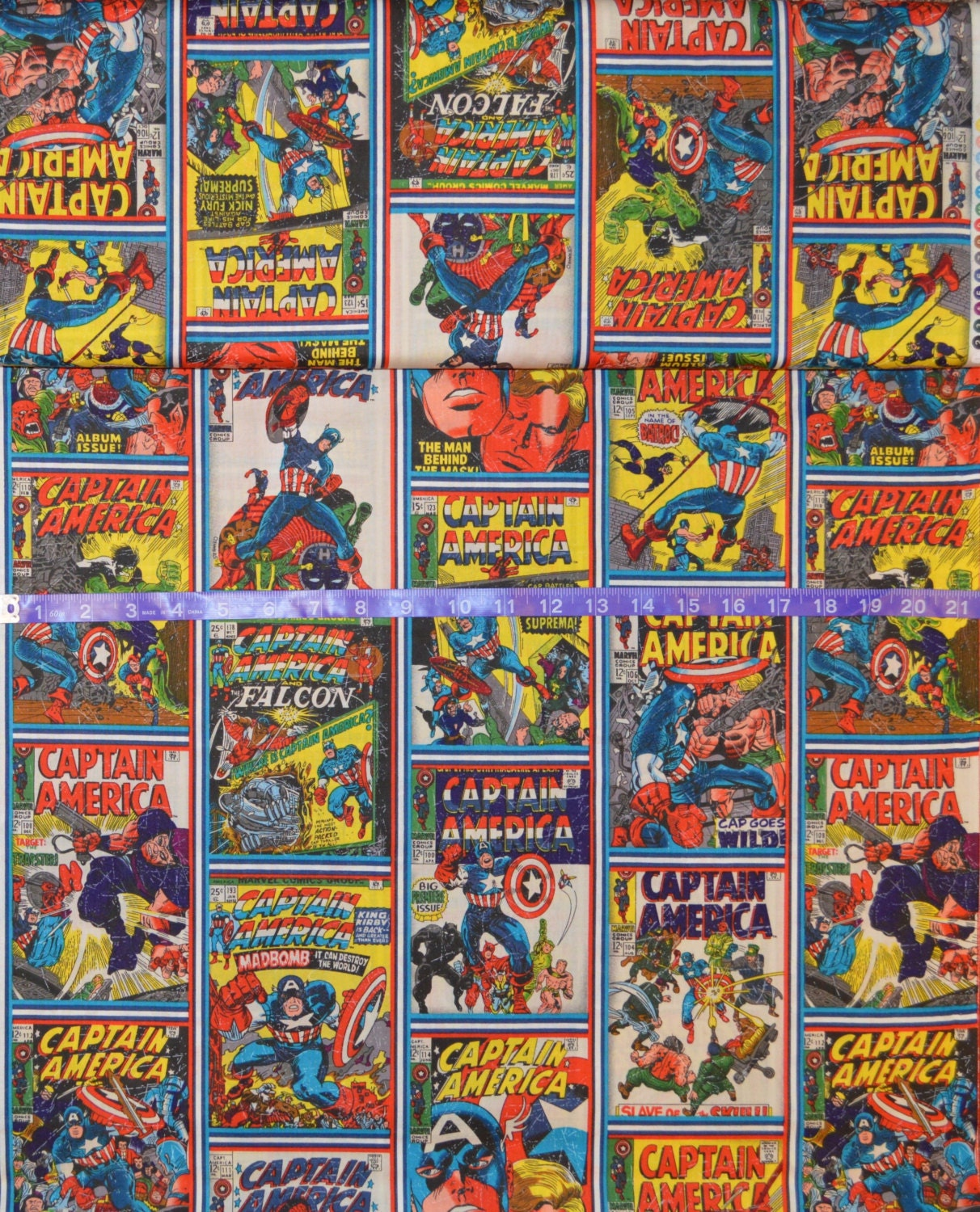 Comic Book Cover Material : Camelot fabrics captain america comic book cover fabric