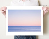 Abstract blue seascape fine art photograph, minimalist Florida ocean decor, Gulf of Mexico photography. Serene beach photo. Coastal artwork