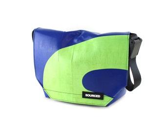 Messenger Bag made from Truck Tarp, Courier bag, Satchel, Laptop Bag, Courier Bag, Eco Friendly and Handmade (G07)