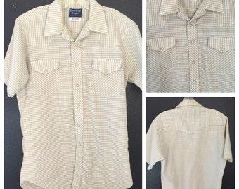 Ely Western Shirt, Vintage Western Shirt, western shirt, pearl snap