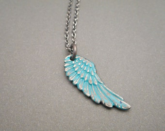 Angel Wing Necklace - Angel Wing Jewelry - Angel Wing Charm - Memorial Necklace - Memorial Jewelry - Loss of a Child - Loss of Mother - Gift