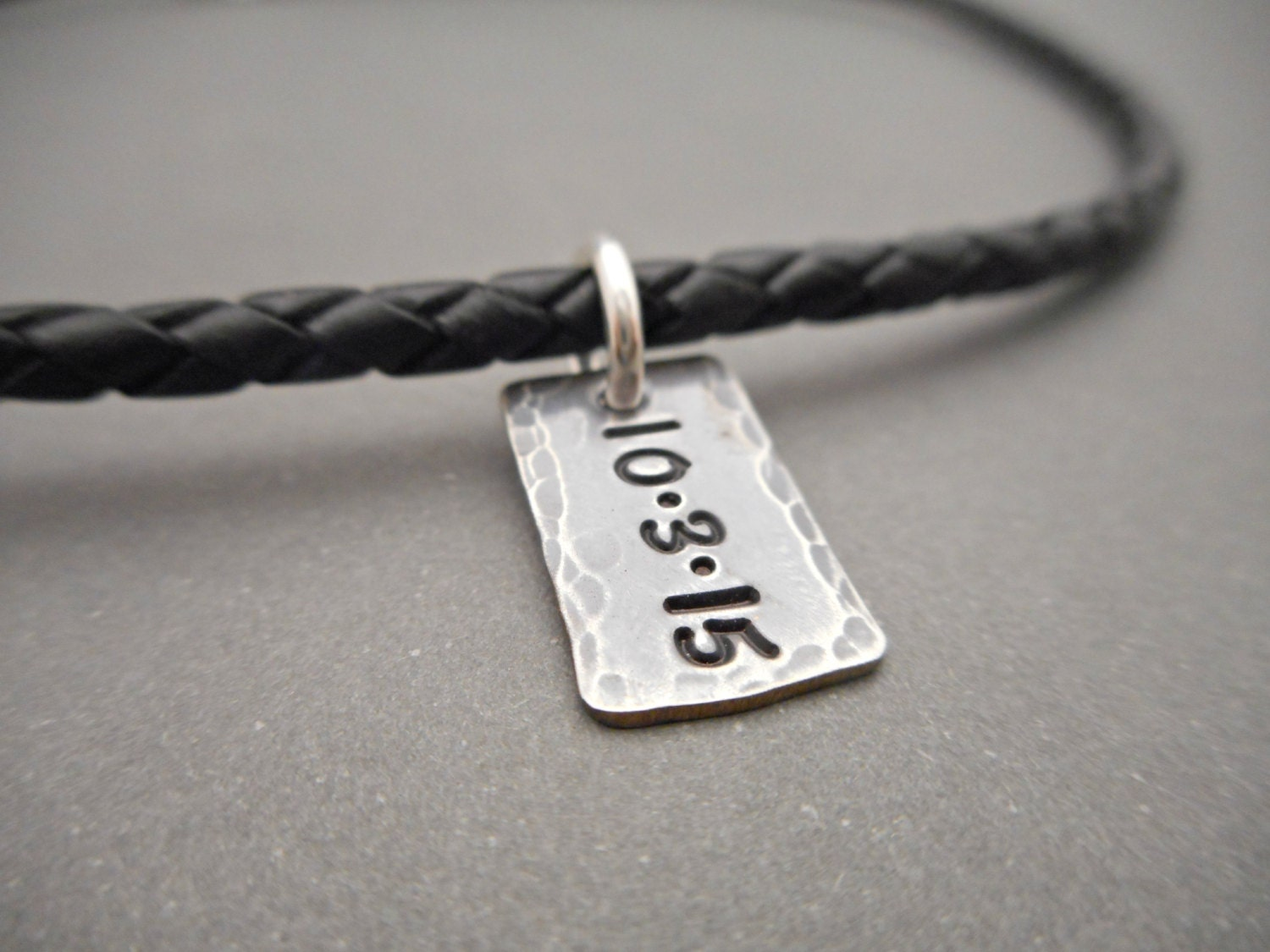 leather cord necklace for personalized jewelry