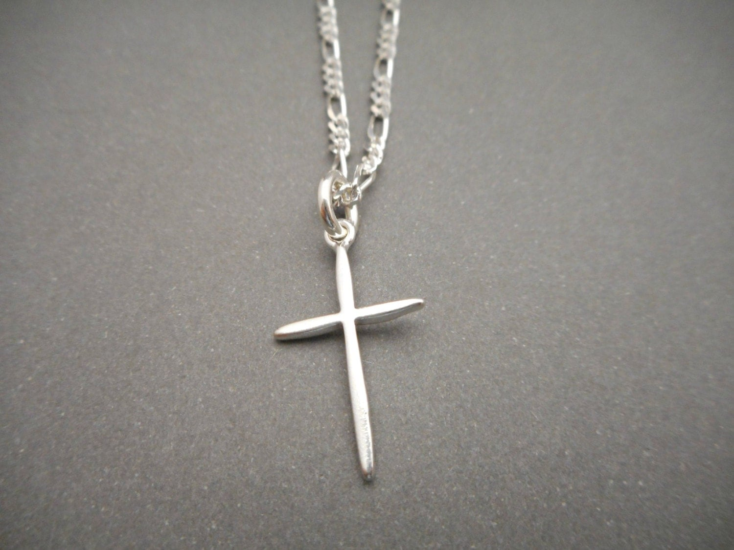 sterling silver cross necklace mens jewelry religious gift. Black Bedroom Furniture Sets. Home Design Ideas
