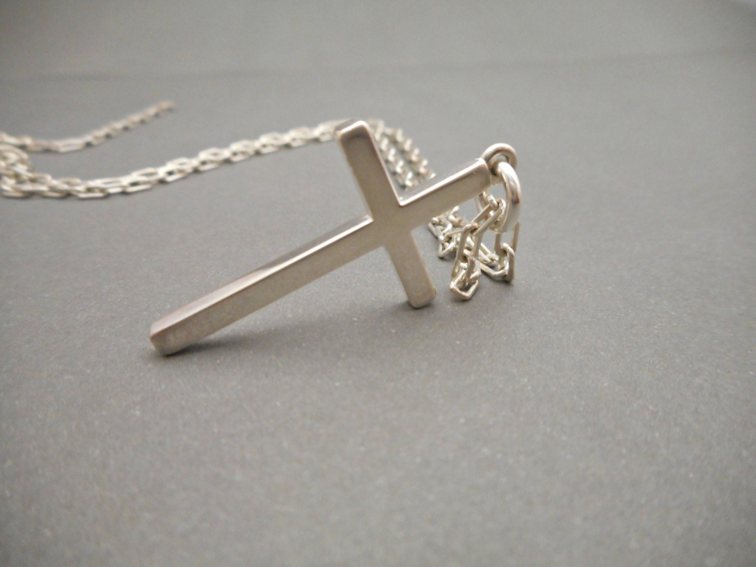 mens cross necklace silver cross jewelry cross necklace. Black Bedroom Furniture Sets. Home Design Ideas