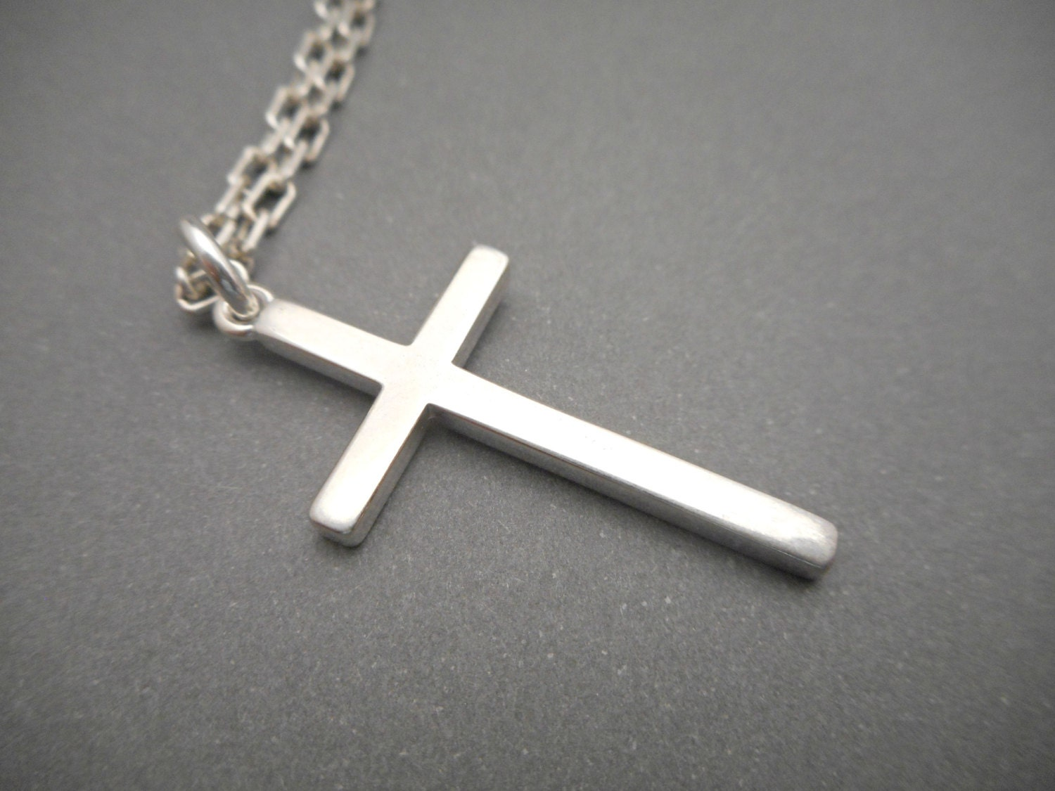 mens cross necklace silver cross jewelry by. Black Bedroom Furniture Sets. Home Design Ideas
