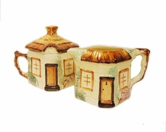Cottage Ware Sugar Bowl 1940s And Creamer 1950s