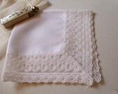 Handkerchief Lace Hanky Bridal Wedding June Bride