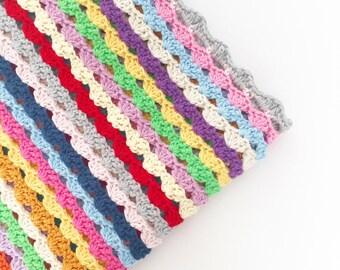 Crochet Happy Waves Blanket PDF Pattern - Instant Download